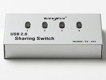 4 Port USB 2.0 Manual Printer Scanner Sharing Switch
