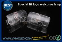 Diy accesorio del coche 12 - 24 v 5 W LED 3D agua imagen y prevención del polvo logo puerta del coche LED de luz láser proyector
