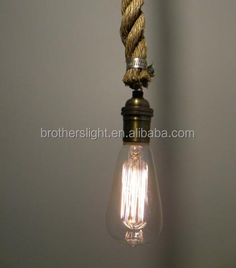Rope pendant light modern industrial chandelier rustic lighting 21g 22g aloadofball Gallery
