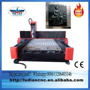 تبحث عن وكلاء الرخام cnc آلة قطع/قطع الرخام cnc راوتر مع 5.5kw المغزل المياه/cnc التوجيه الحجر 1325