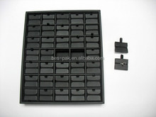 Wooden Frame wrapped black leather jewelry Tray