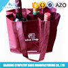 non woven beer bag non woven 4 bottle wine tote bag