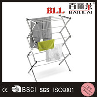 Small shelf stainless steel portable metal display stand for apartment