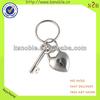 custom sweet heart 3d metal alloy personalized keychain