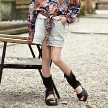 china wholesale summer fashion jeans dress for kids