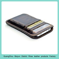 Mens Custom Slim Credit Card Case Personalized Thin Mobile Cell Phone Wallet