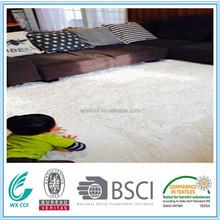 polyester microfiber long pile shaggy silk polyester children carpet