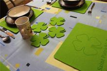 St Patrick Day / Saint Patrick's Day Felt Shamrock Designs Placemats and Coasters Set of 8 Felt 3 mm