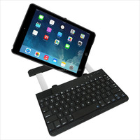 mini 9.7 Inch wireless Bluetooth Keyboard For iPad Air with 360 Degree Rotating 9.7 tablet pc leather case bluetooth keyboard