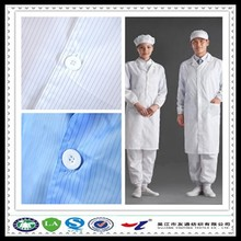 96% polyester 4% carbon fiber grid conductive workwear fabric