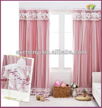 europe new style double layer blackout with lace curtain hot sale around the world