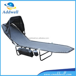 Outdoor leisure portable folding beach bed with canopy