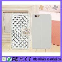 DIY Crystal Bling PU Leather Waterproof Mobile Phone Case Card Holder Wallet For Iphone 5/5S