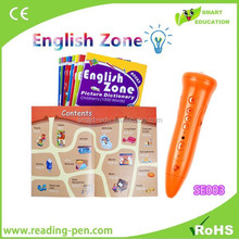 3A battery Learning Pen reading pen in English and Spanish Russian