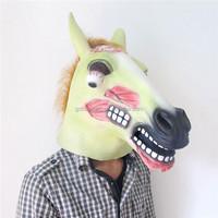 Latex Glow in the Dark Zombie Horse Halloween Mr. Ed Mask