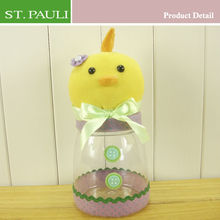 9 inch spring easter party plastic handmade decoration bottles