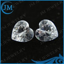 Reasonable Factory Price Heart Shape Natural White Zircon