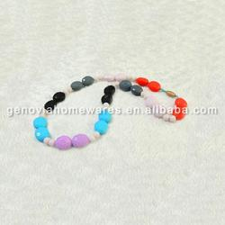 Small Quantity Available 2015 hot supply silicone necklace bead fda&bpa free made in China