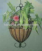 galvanized wrought iron hanging basket wholesale UK on sale