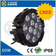 Hot new products 2015 5000 lumens Cree 60w led work light, 7 inch round led headlight 12v 24v electronic offroad led light