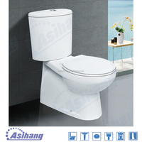 AS203 china types of two piece toilet bowl