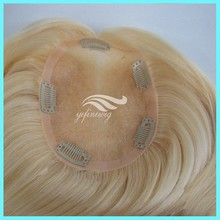 Good Looking Blonde Humen Hair Wig Toupee with Clips
