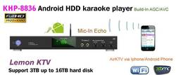 2015 professional Android KTV karaoke player ,USB add songs,build-in AGC/AVC