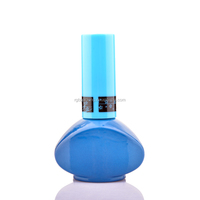 Unique Oval Shaped Blue Nail Gel Glass Bottle UV Gel Nail Polish Bottle For Summer hot selling beauty products