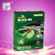 Permanente 50ml*3 negro natural de henna tintes de cabello
