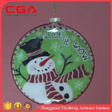 chraming wholesale glass balls flat ball round ball christmas tree ornaments flat christmas ornament