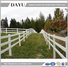 White PVC Plastic Ranch Rail Horse Fence For Farm
