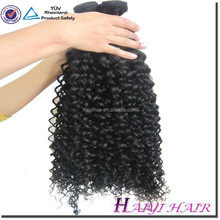 Full cuticle 2015 New Arrival Aliexpress Hot sale natural color curly hair weave ponytail