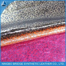 1412005-5353-4 Ningbo Bridge Free Sample Available Foiled Leopard Grain Leather For Shoes