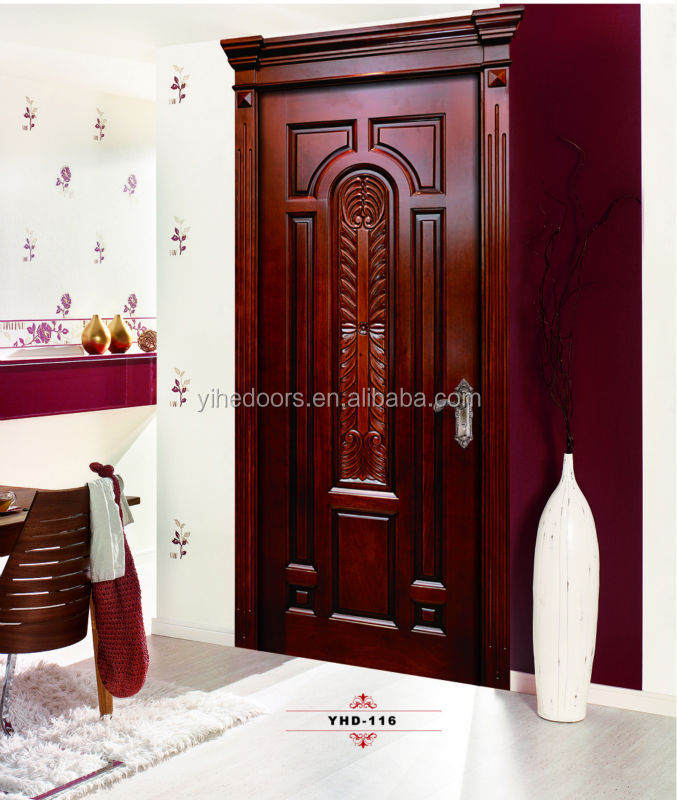 Modern main single wood panel door designs buy single for Plain main door designs