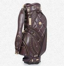 Helix cow leather golf cart bag /real leather golf stand bag / hand made golf carry bag