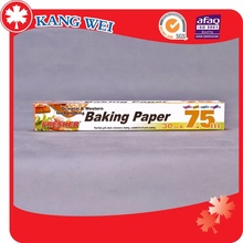 Heat resistant food grade silicon coated baking paper
