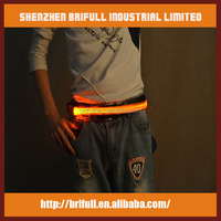 New safety sports electric waist belt led running waist belt