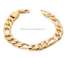 Big Size Bracelet men Wholesale saudi 22k gold jewelry 11 MM Thick Pave Link Chain Bracelets