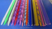 fancy knitting needles color, spirl knitting needle