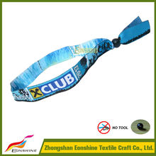 New 2015 fashion girls woven wristband companies for music party