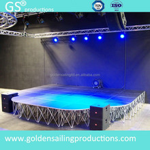TUV certificated aluminum portable stage platform , modular staging project