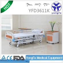 YFD3611K Three Function electric hospital manual bed adjustable bed headboard D11