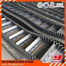 Corrugated sidewall cleated industrial conveyor belt