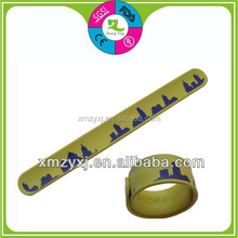 silicone slap on bands, slap wristband/bracelets
