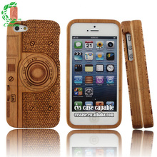 Handmade Wood Mobile Phone Case For Iphone 5 With Engraved Beautiful Flower,for iphone 6 clear wood case