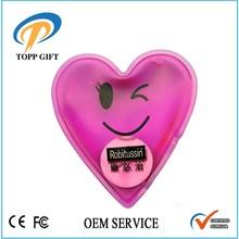 Promotional gift magic gel reusable hand warmer heat pack