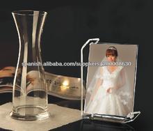 Acrílico claro tradicionales de escritorio del lucite marco de fotos de alta calidad