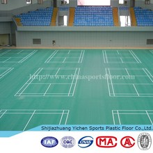 PVC badminton court pvc vinyl floor/sports flooring