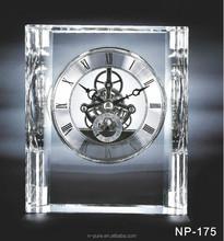 Unique Crystal Clock For Excellent Award