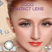 3-TONE girls fashion beauty big size color contact lens DODO GRAY